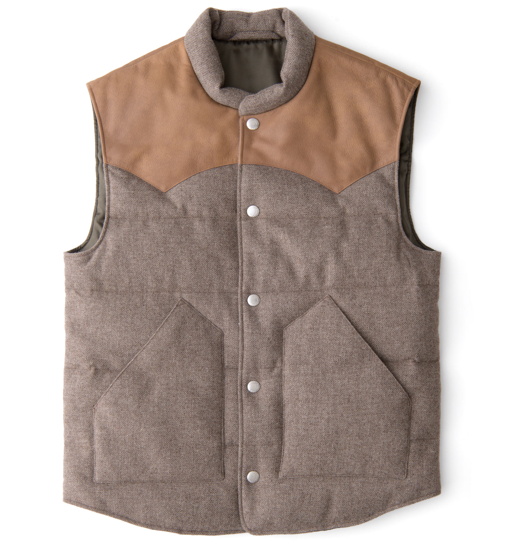 Zoom Image of Jackson Taupe Wool and Cashmere Western Vest