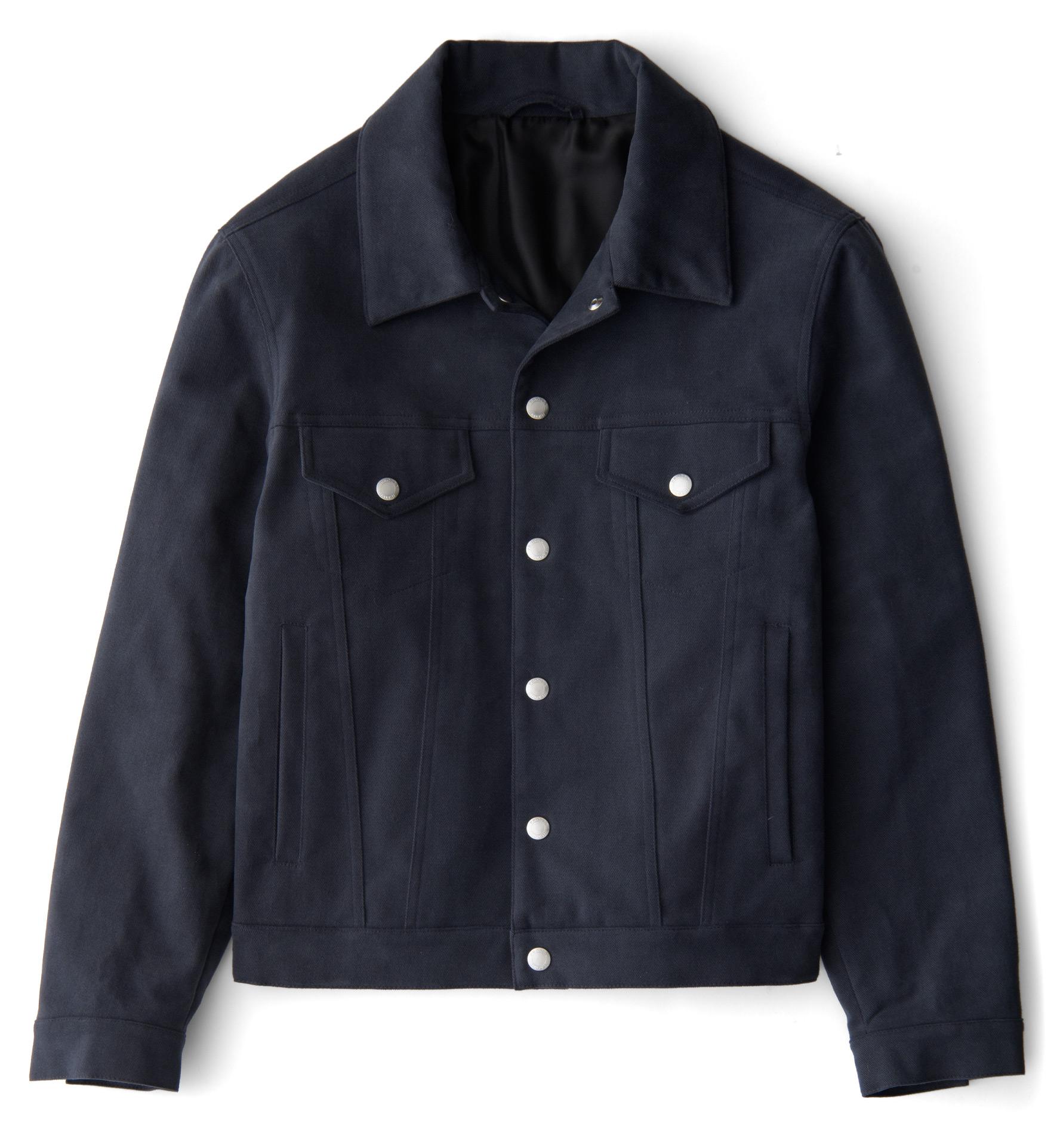 Zoom Image of Lafayette Slate Brushed Cotton Jacket