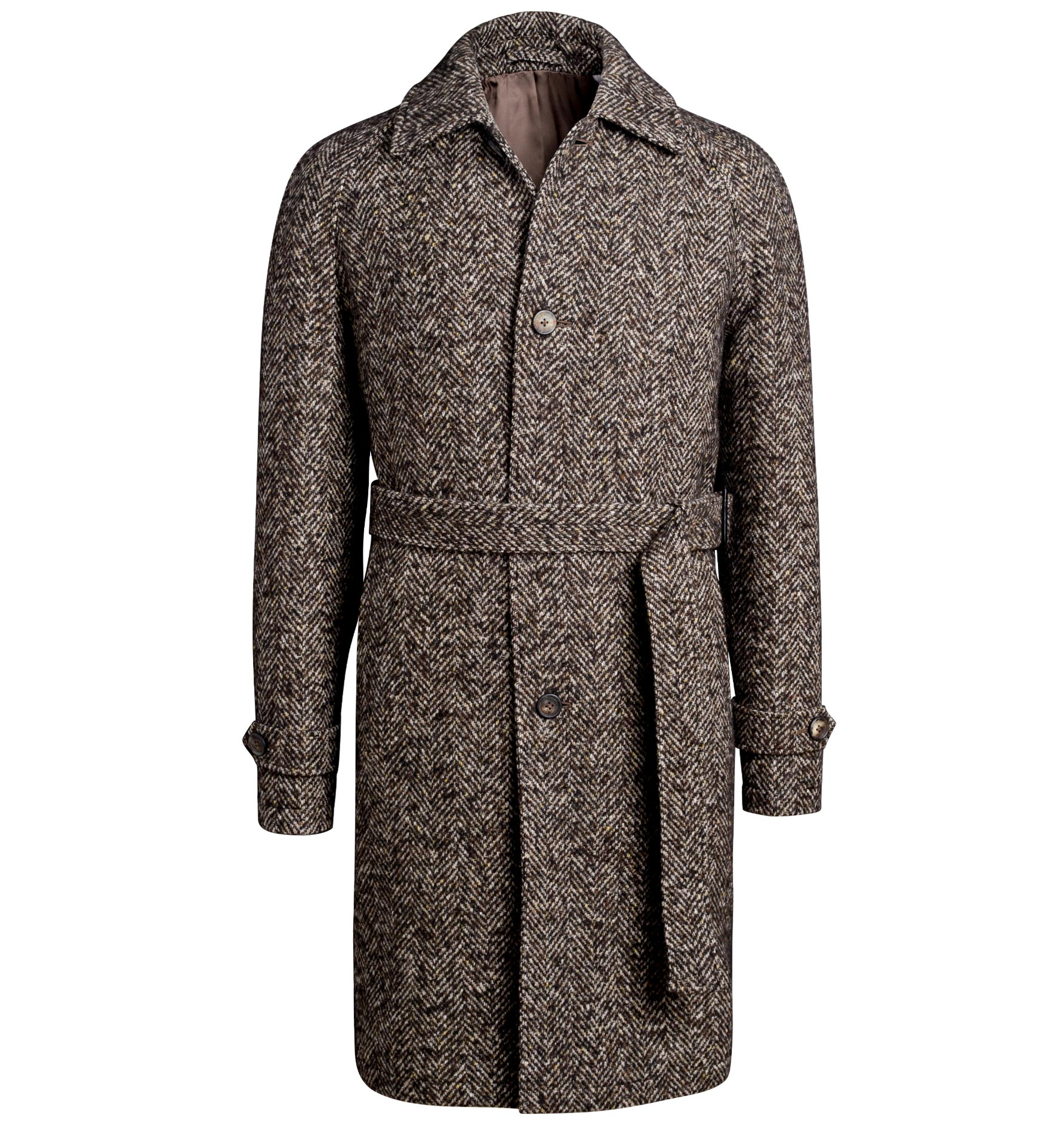 Zoom Image of Waverly Brown Donegal Tweed Raglan Overcoat