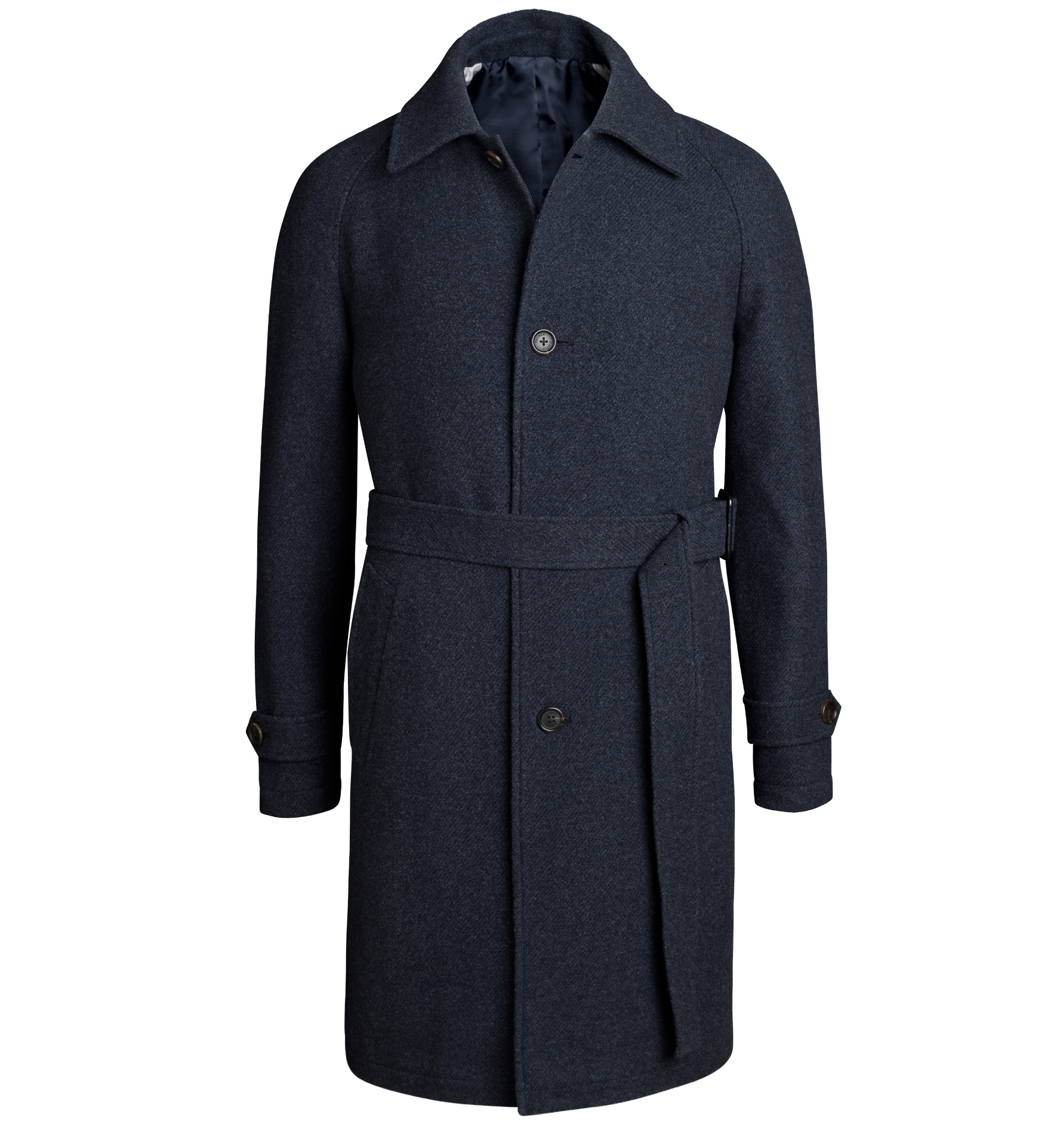 Zoom Image of Crosby Navy Wool and Cashmere Belted Coat