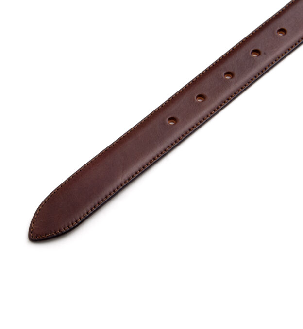 Walnut Vachetta Leather Dress Belt