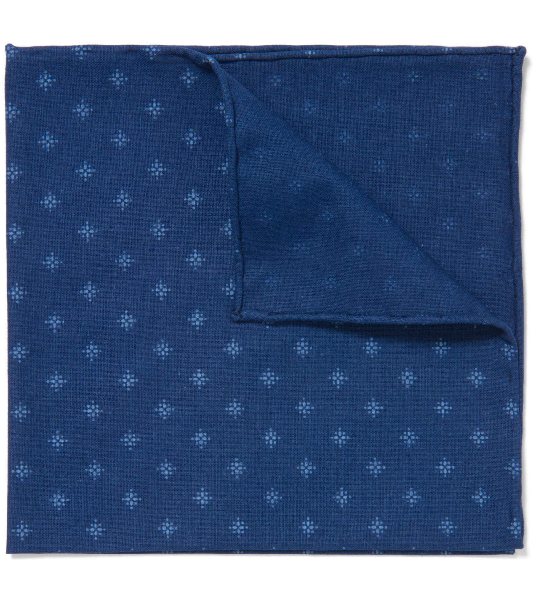 Zoom Image of Japanese Star Indigo Pocket Square