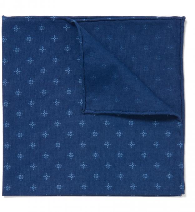 Japanese Star Indigo Pocket Square