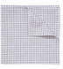 Grey Peached Gingham Pocket Square Product Thumbnail 1