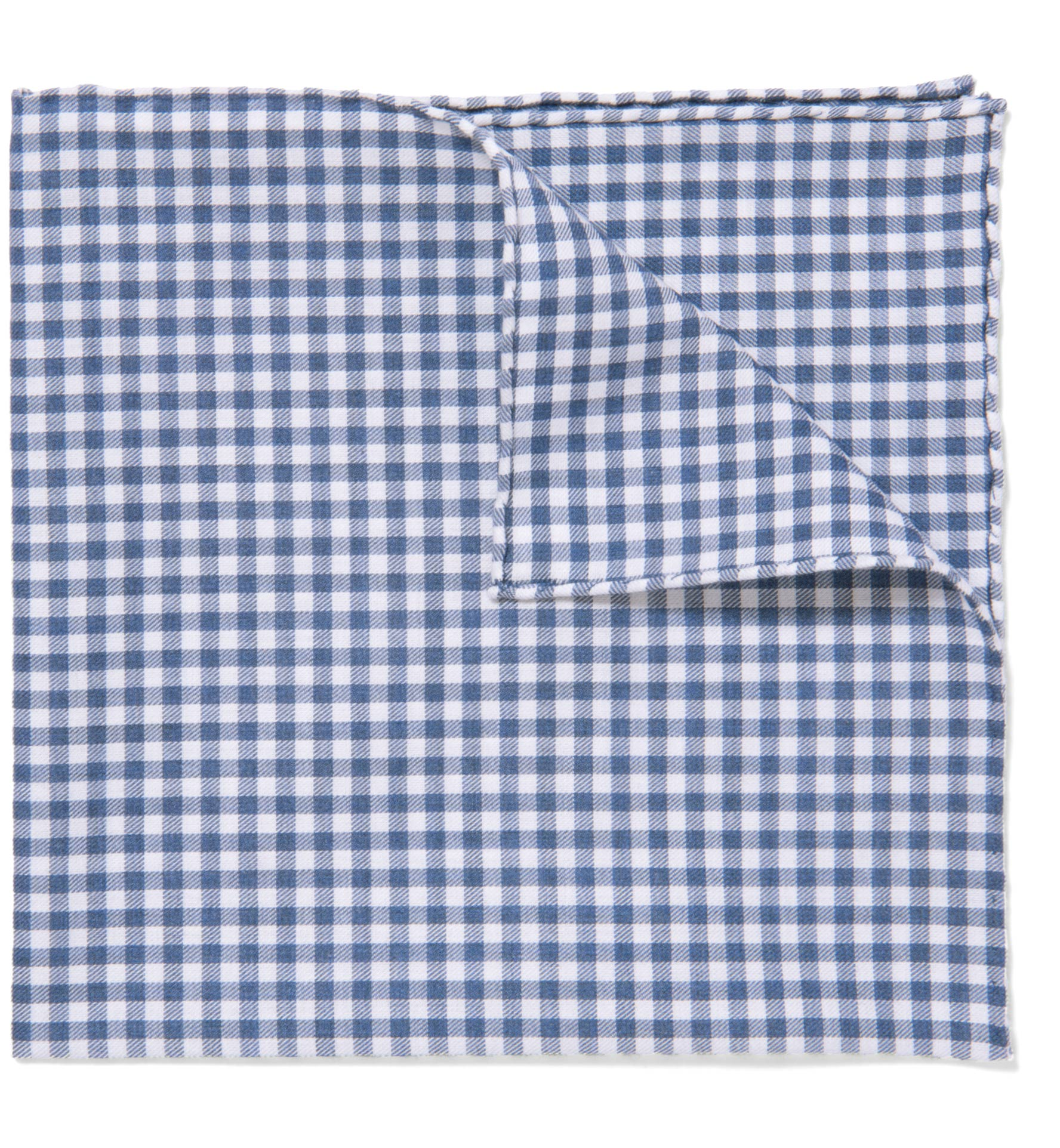 Zoom Image of Slate Peached Gingham Pocket Square