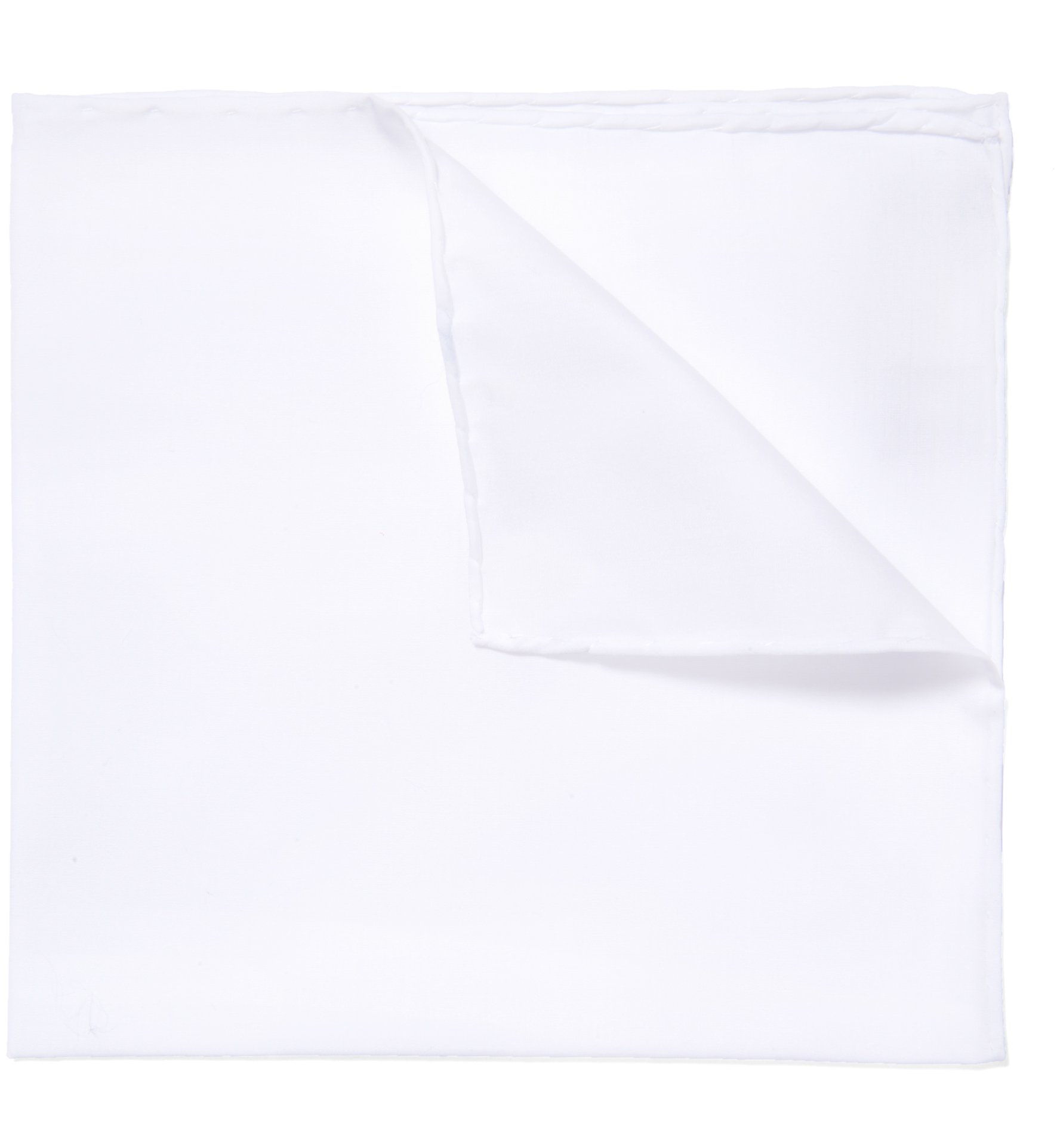 Zoom Image of Essential White Cotton Pocket Square
