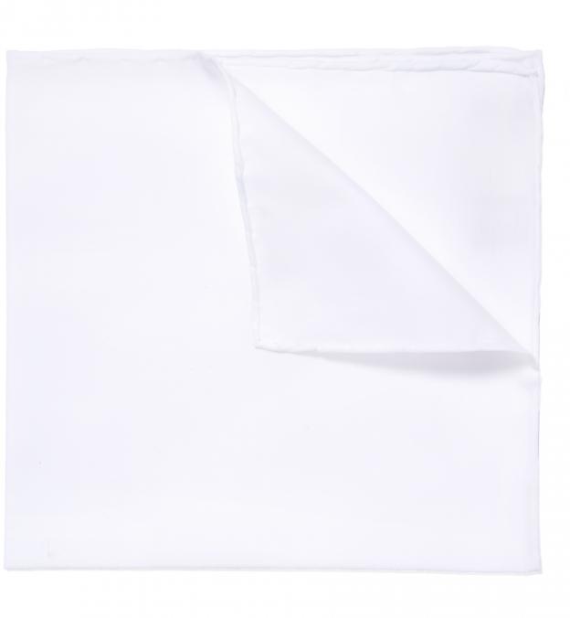 Essential White Cotton Pocket Square
