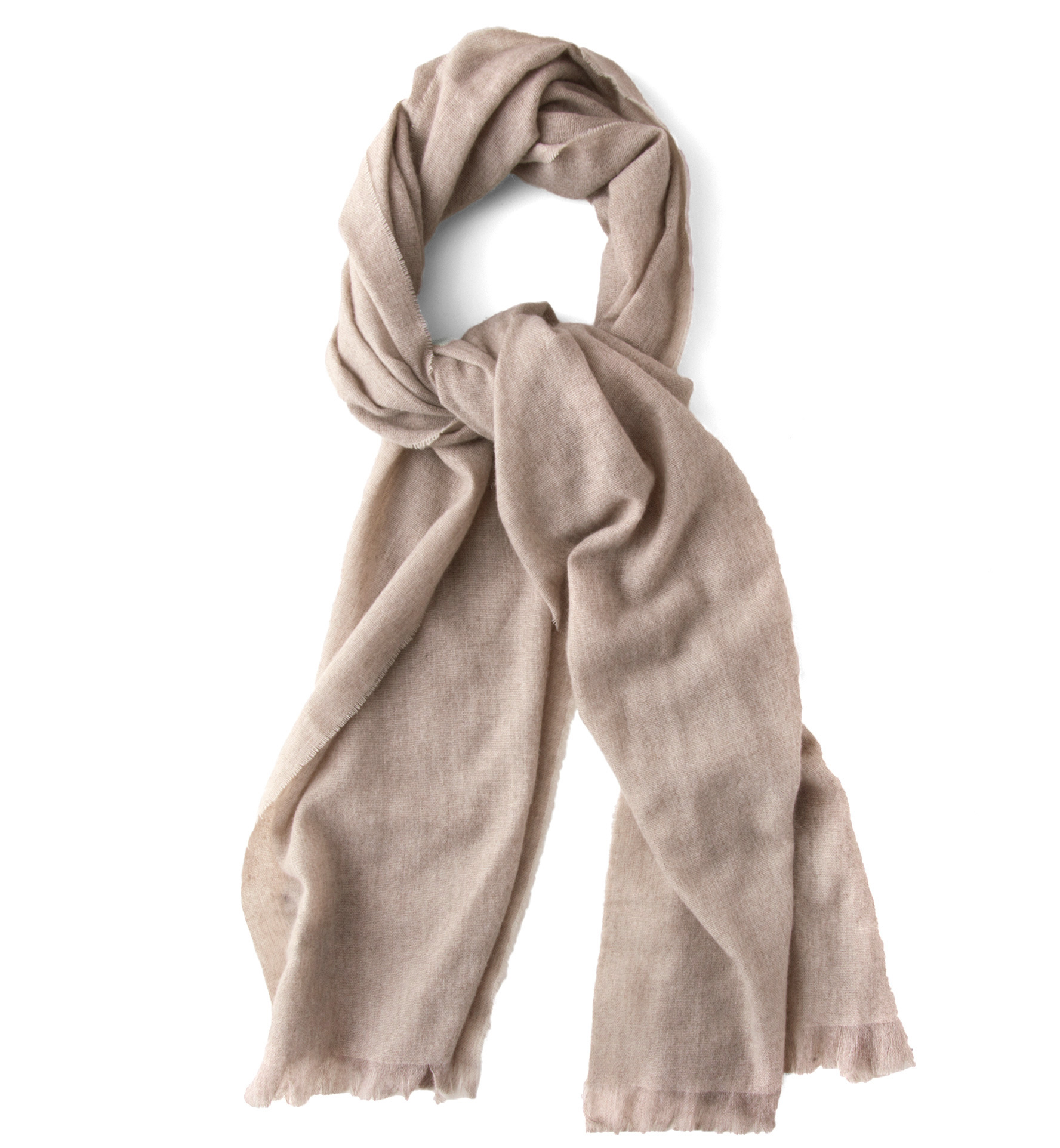 Zoom Image of Beige Italian Cashmere Scarf