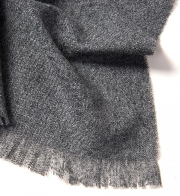Grey Italian Cashmere Scarf