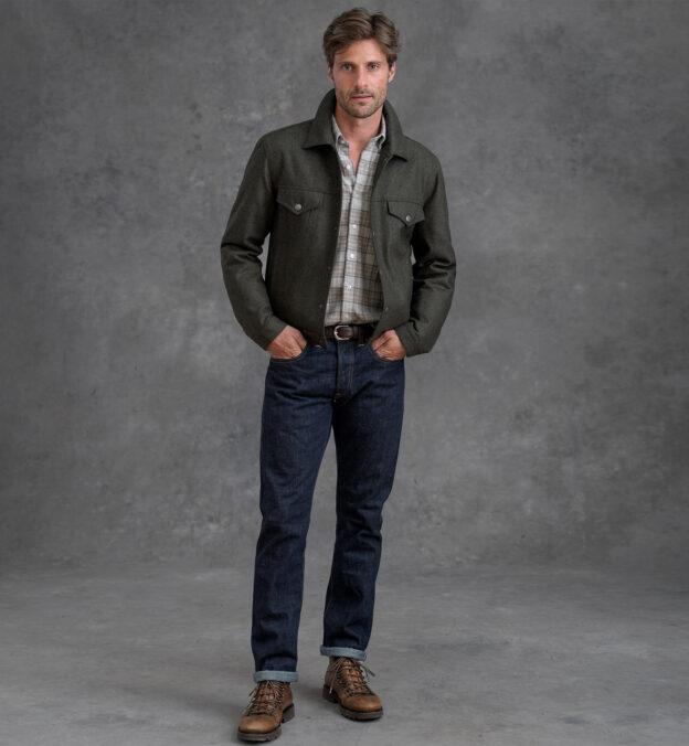 Lafayette Pine Wool Trucker Jacket