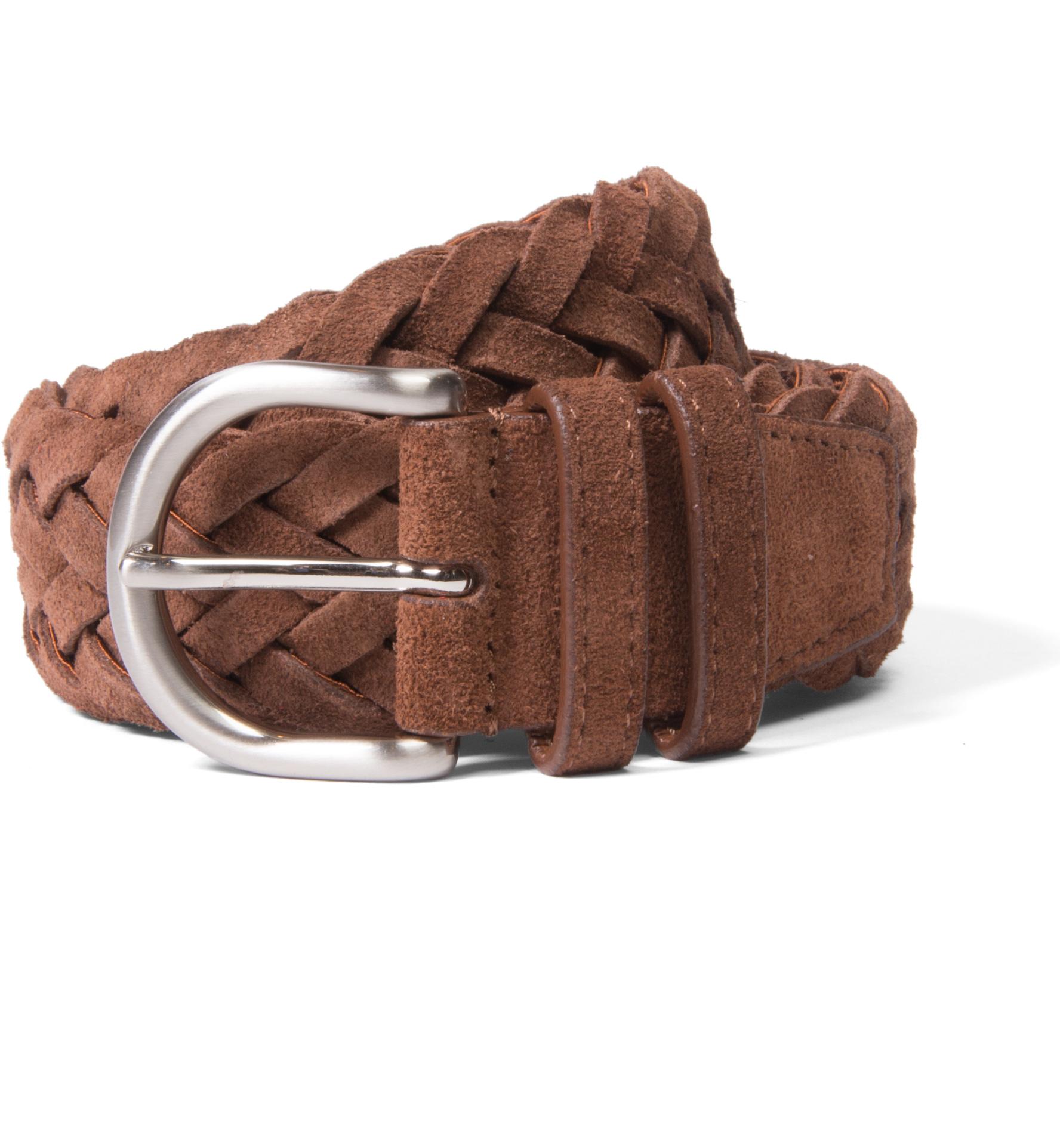 Zoom Image of Brown Suede Braided Belt