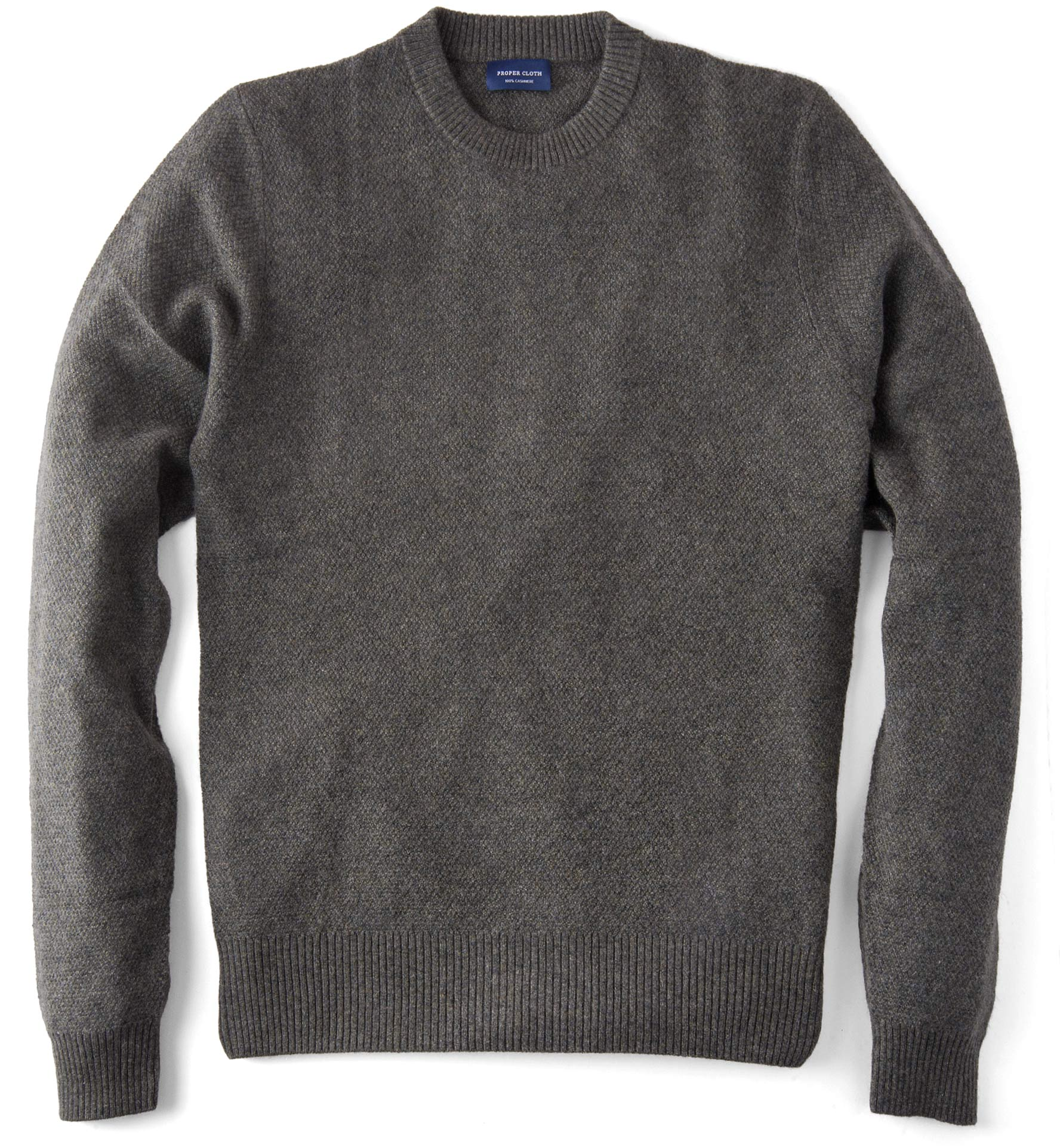 Zoom Image of Pine Cobble Stitch Cashmere Sweater