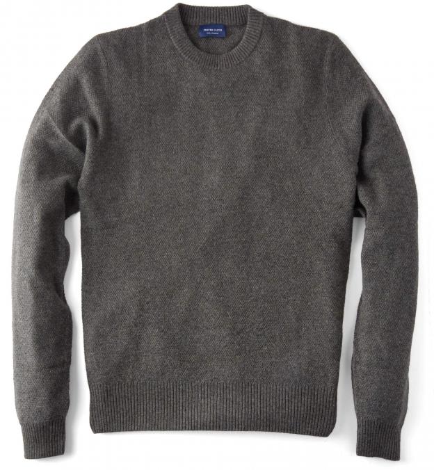 Pine Cobble Stitch Cashmere Sweater