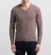 Beige Cashmere V-Neck Sweater Product Thumbnail 4