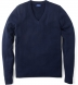Navy Cashmere V-Neck Sweater Product Thumbnail 1
