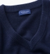 Navy Cashmere V-Neck Sweater Product Thumbnail 2