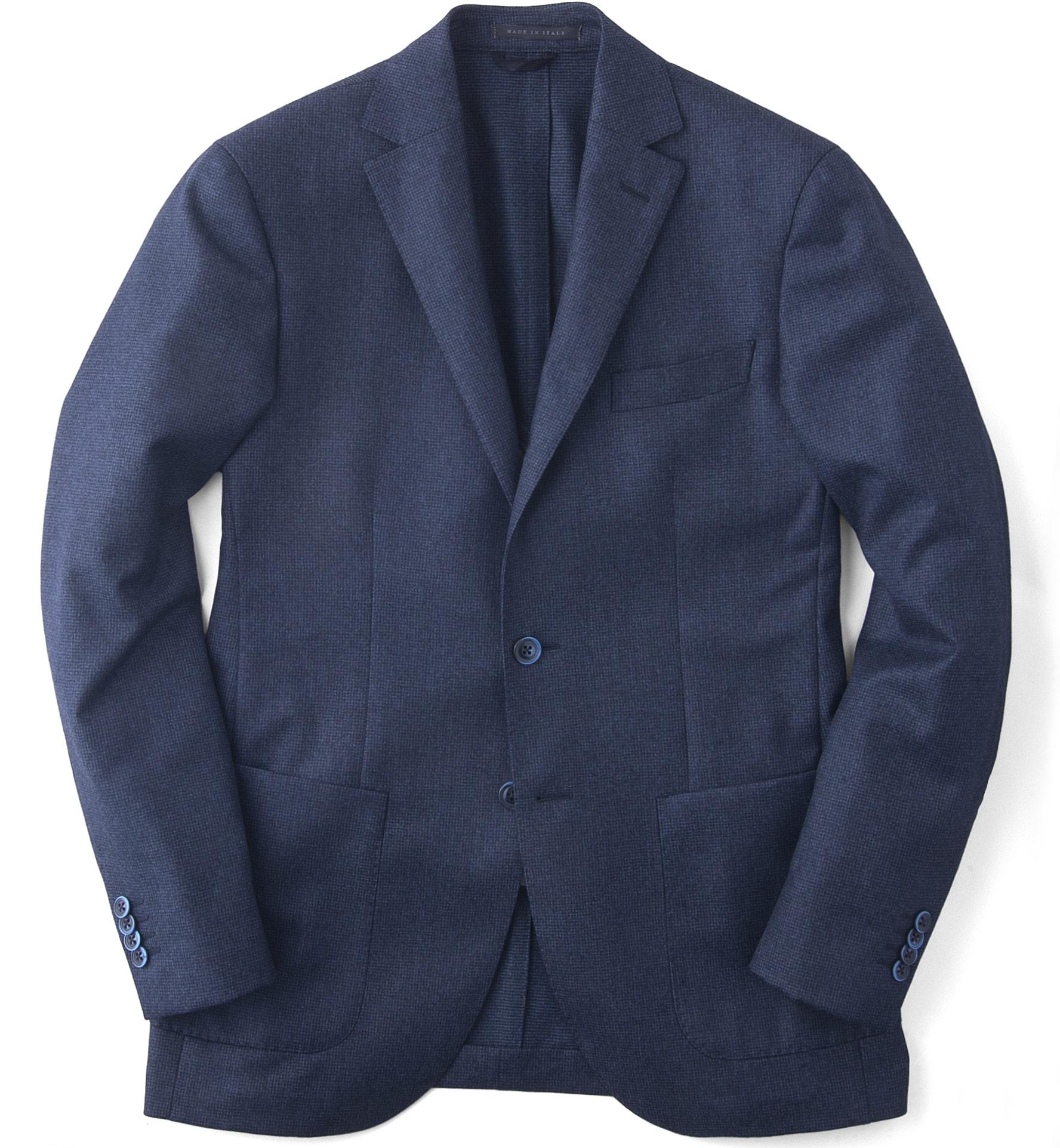 Zoom Image of Blue Houndstooth Genova Jacket