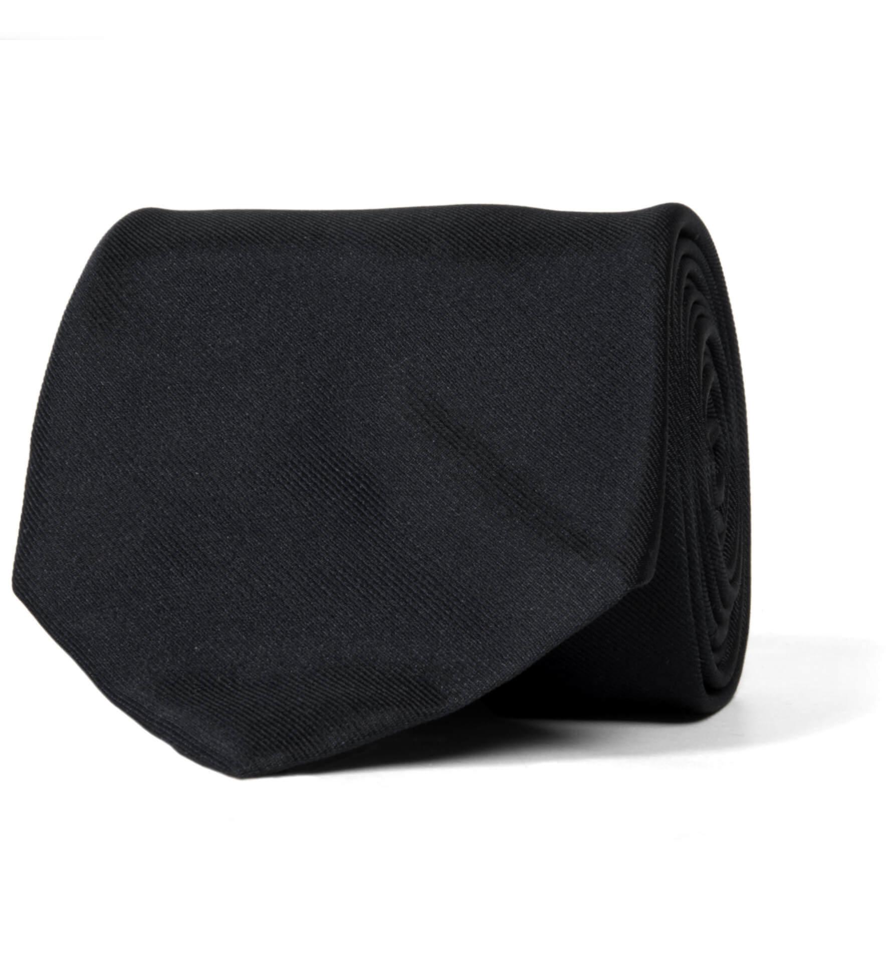 Zoom Image of Black Silk Repp Tie
