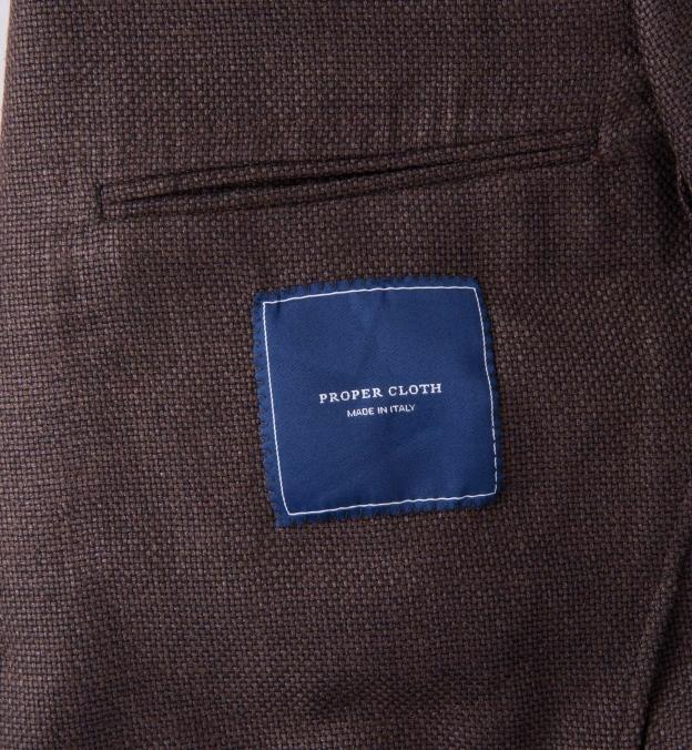 Chocolate Summer Basketweave Genova Jacket