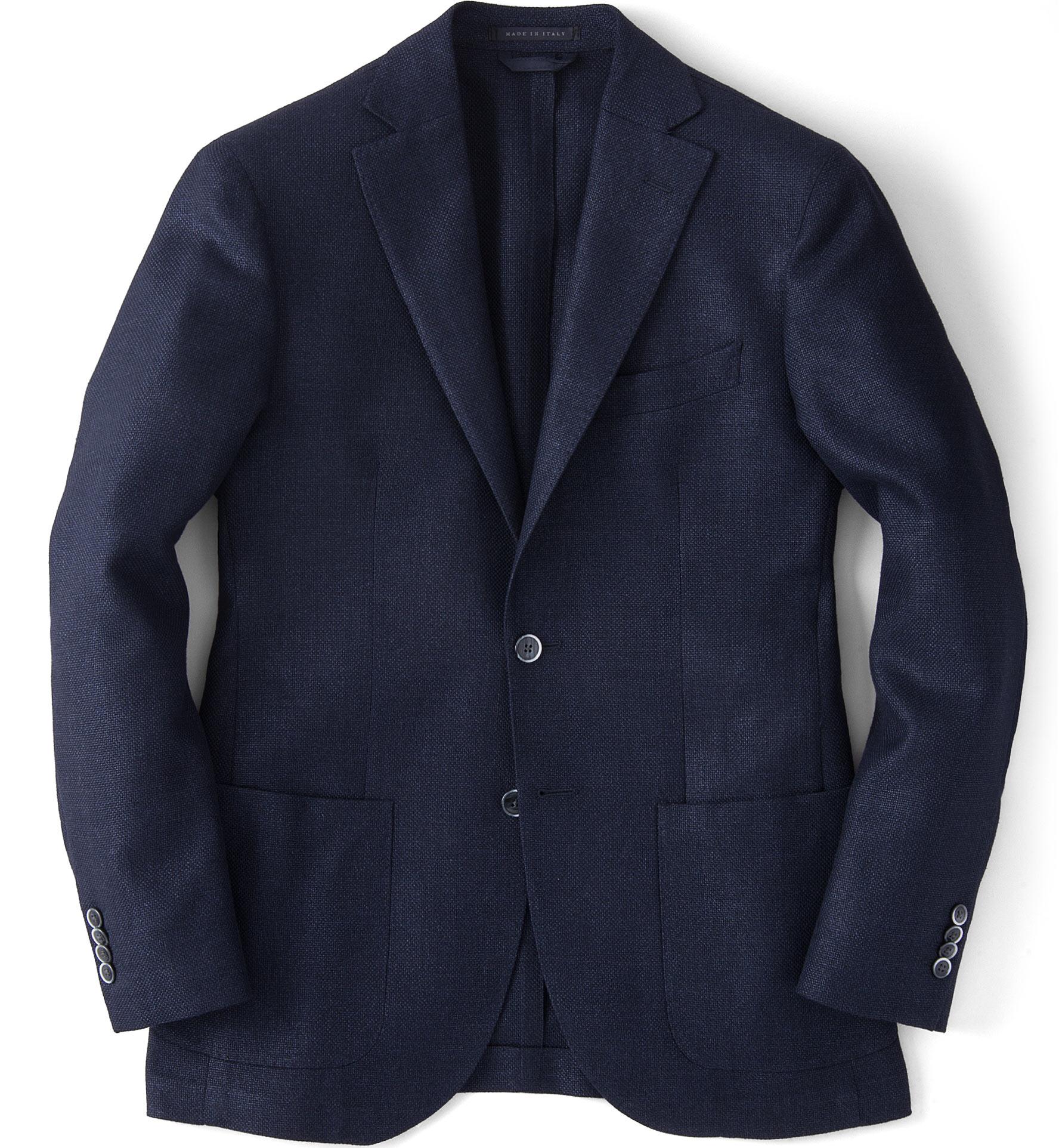 Zoom Image of Navy Basketweave Genova Jacket