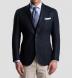 Navy Basketweave Genova Jacket Product Thumbnail 6