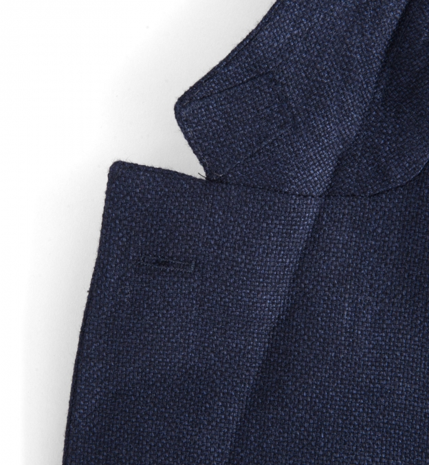 Navy Basketweave Genova Jacket