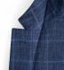 Navy Windowpane Slub Genova Jacket Product Thumbnail 3