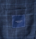 Navy Windowpane Slub Genova Jacket Product Thumbnail 4
