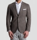 Beige Glen Plaid Slub Genova Jacket Product Thumbnail 6