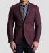 Burgundy Slub Genova Jacket Product Thumbnail 6