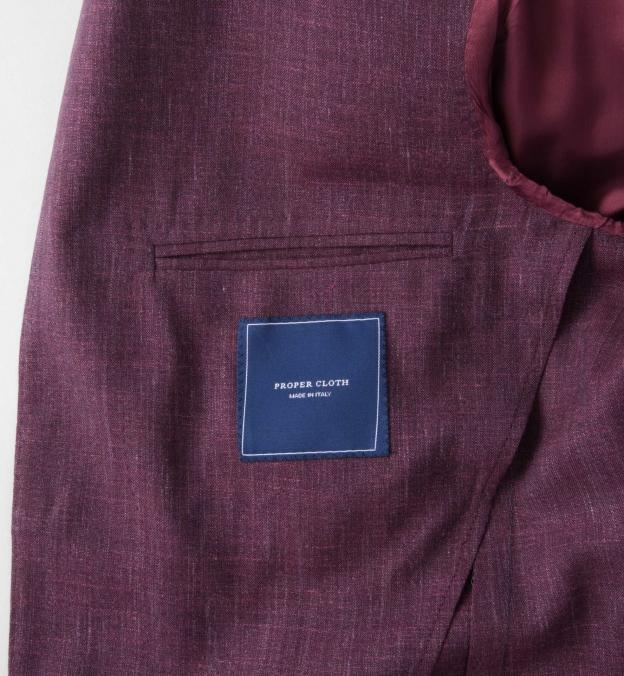 Burgundy Slub Genova Jacket