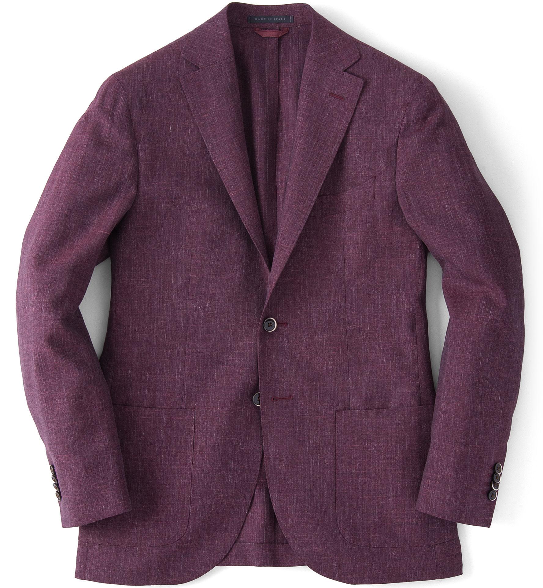Zoom Image of Burgundy Slub Genova Jacket