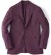Burgundy Slub Genova Jacket Product Thumbnail 1