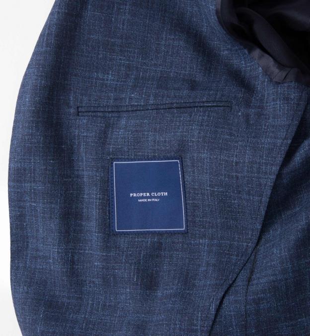 Navy Slub Genova Jacket