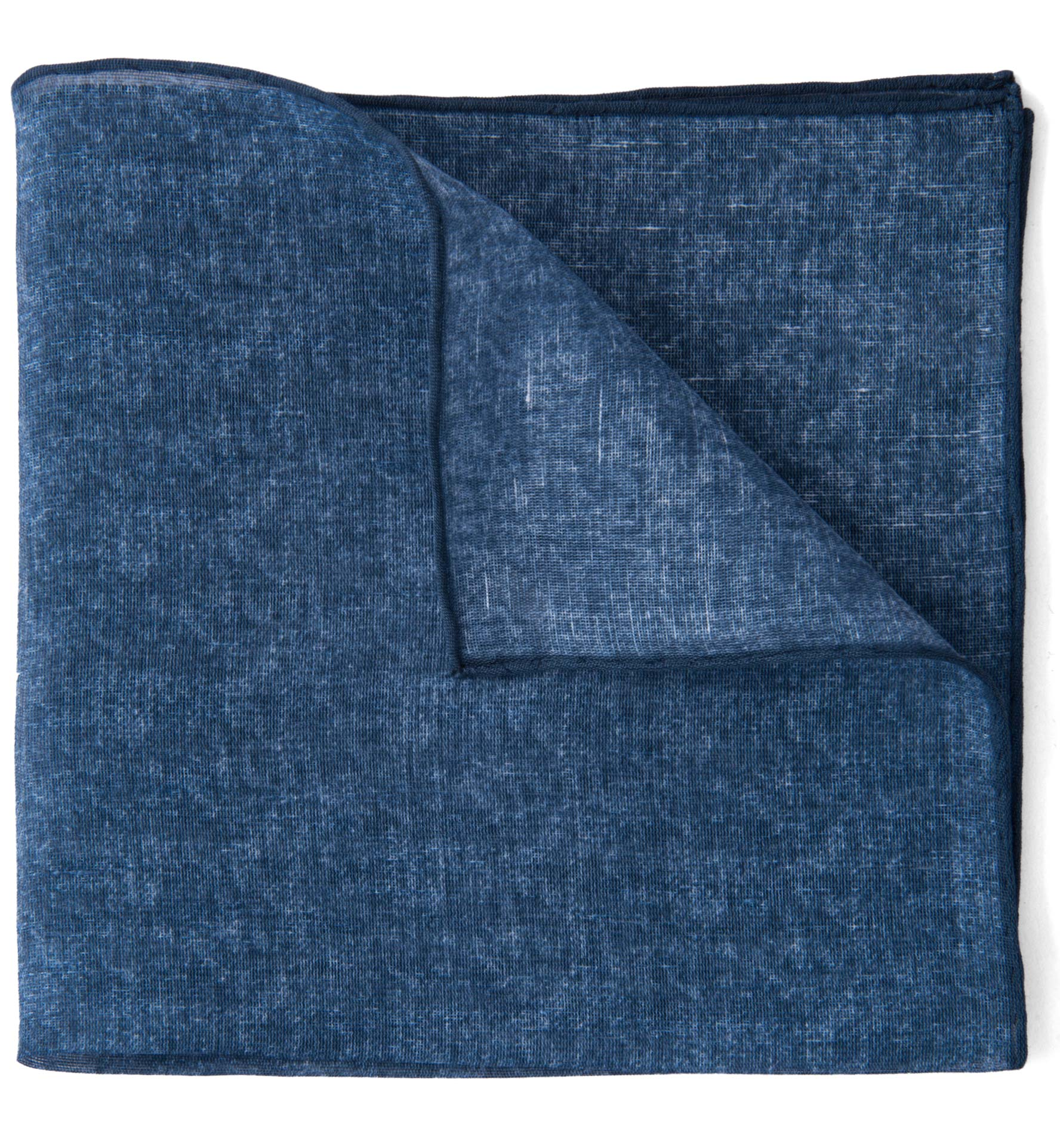 Zoom Image of Navy Cotton Linen Pocket Square