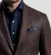 Navy Cotton Linen Pocket Square Product Thumbnail 3