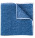 Ocean Blue and White Cotton Linen Pocket Square Product Thumbnail 1