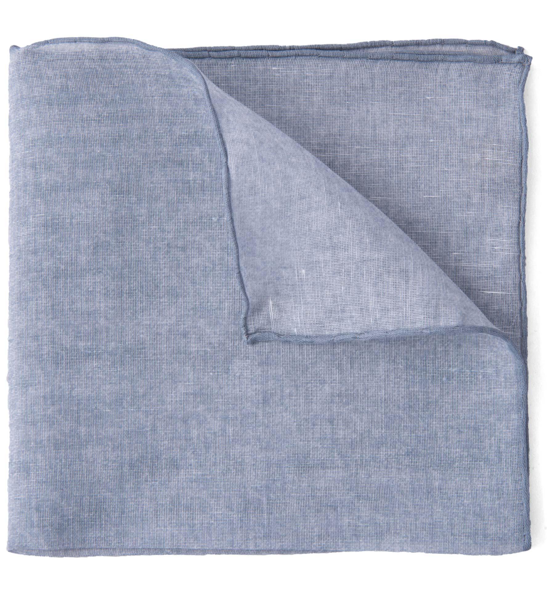 Zoom Image of Grey Cotton Linen Pocket Square