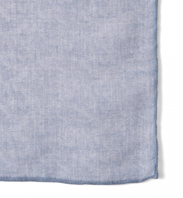 Grey Cotton Linen Pocket Square