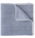 Zoom Thumb Image 1 of Grey and White Cotton Linen Pocket Square