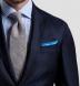 Light Blue Cotton Linen Pocket Square Product Thumbnail 3