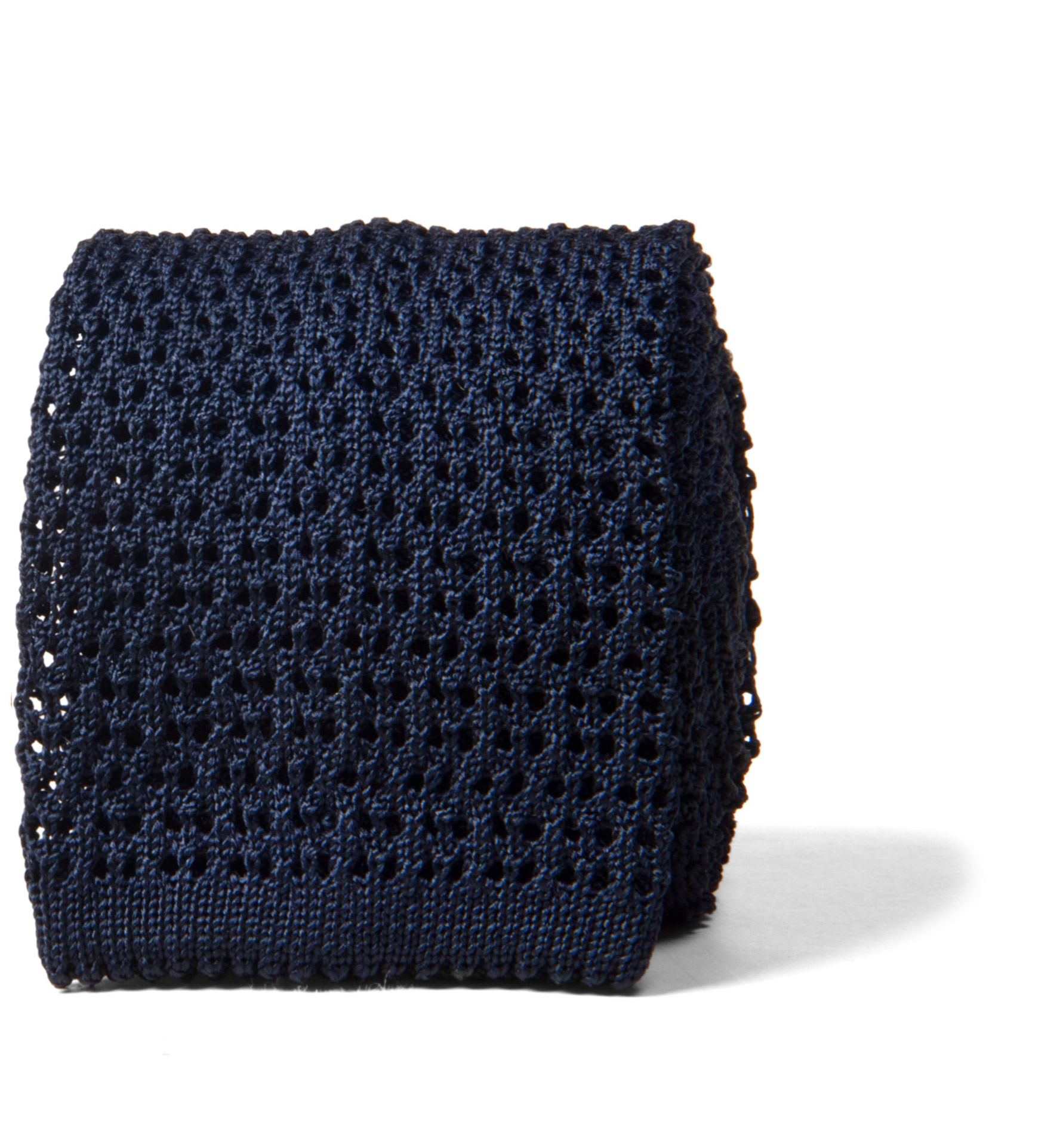 Zoom Image of Navy Silk Knit Tie