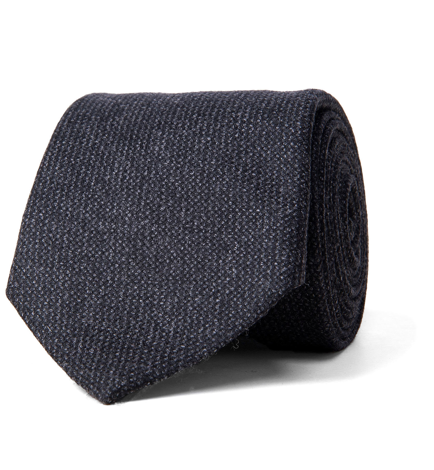 Zoom Image of Charcoal Solid Cashmere Tie
