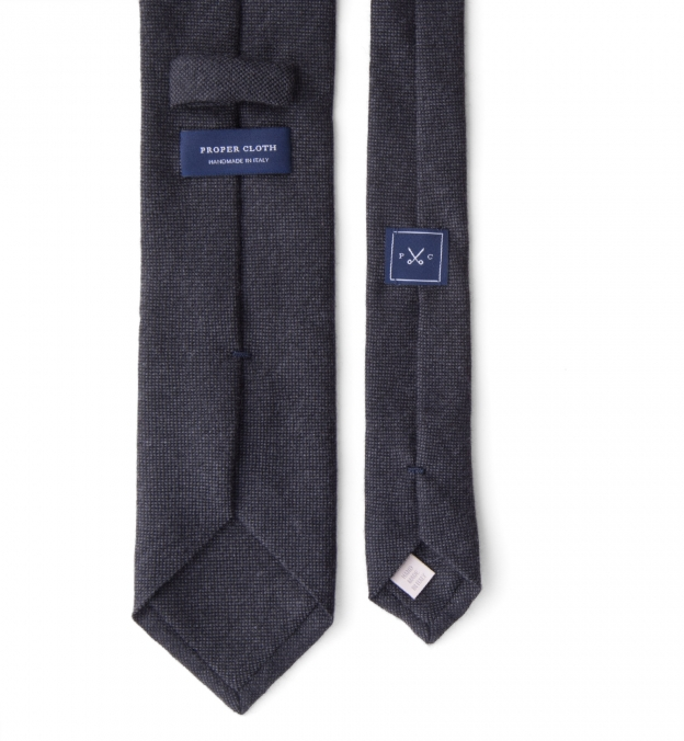Charcoal Solid Cashmere Tie
