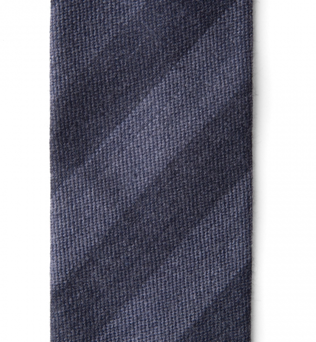 Charcoal and Grey Wool Striped Tie