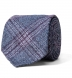 Grey and Scarlet Wool Plaid Tie Product Thumbnail 1