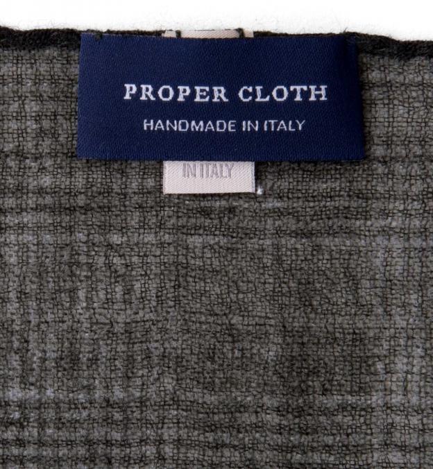 Forest Glen Plaid Wool Pocket Square