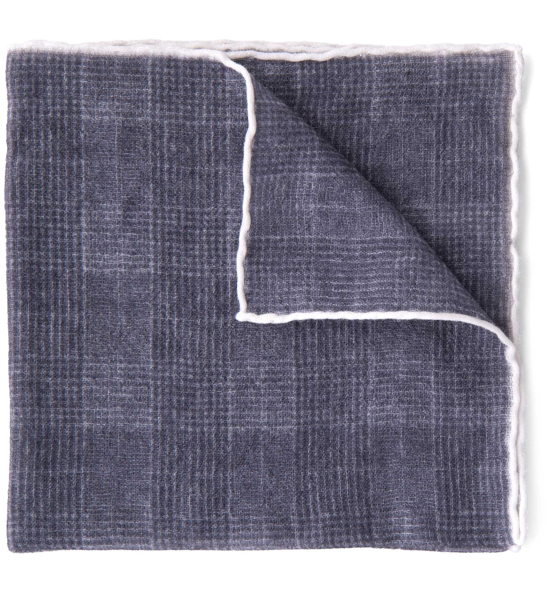 Zoom Image of Grey Glen Plaid Wool Pocket Square