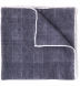 Grey Glen Plaid Wool Pocket Square Product Thumbnail 1
