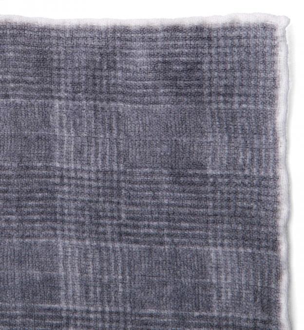 Grey Glen Plaid Wool Pocket Square